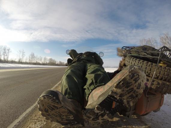 Защита, зимобайкер, мотоклуб УРАЛ
