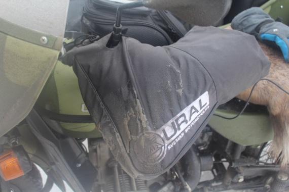 Защита на руль мотоцикла, зимобайкер, мотоклуб УРАЛ