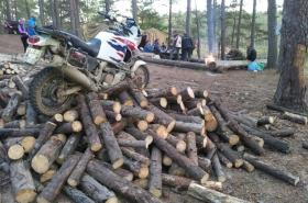 На дровах эндурик парковать удобно, слезть проще.