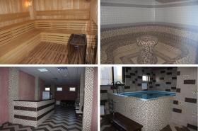 Огромный комплекс спа: финские, турецкие бани, бассейны и многое другое