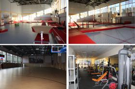 Несколько спортивных залов. Футбол, баскетбол, тренажёры и многое другое